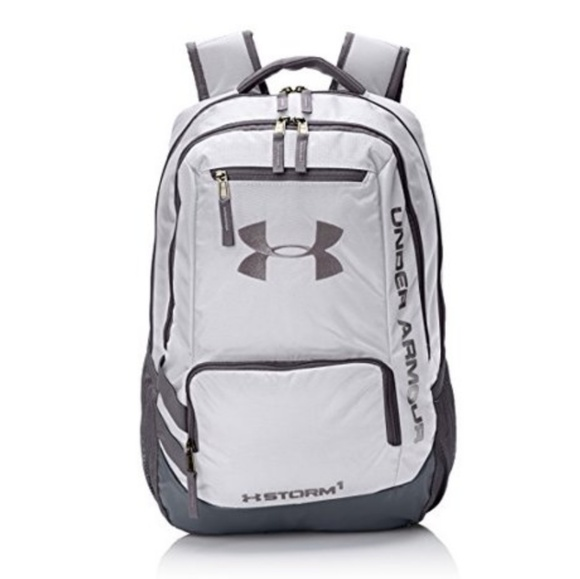 Pitch Gray White Under Armour Gameday Backpack One Size 1316573-100